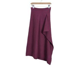 Aritzia Babaton Pamella Knit Ruffle Midi Skirt